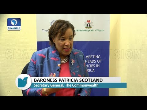 How Commonwealth Will Assist Nigeria In Tackling Corruption Menace-- Baroness Patricia Scotland Pt.1
