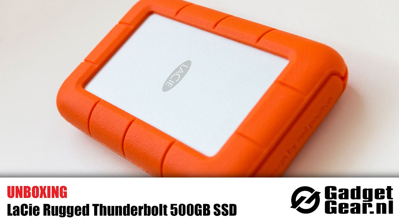 Unboxing Lacie Rugged Thunderbolt 500gb Ssd