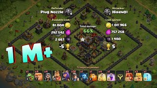1 MILLION LOOT IN COC, FIX THAT RUSH ,Clash of Clans India