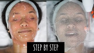 I GOT A PROFESSIONAL FACIAL! | STEP BY STEP + CLEARING HORMONAL ACNE