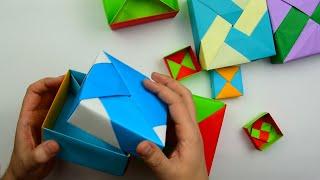 як зробити вироби з паперу відео коробочка