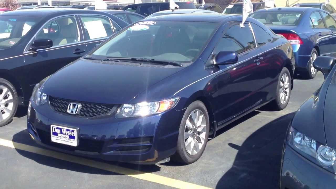 Certified 2010 Honda Civic Ex 2 Door Blue
