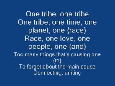 one tribe-black eyed peas (lyrics) - YouTube