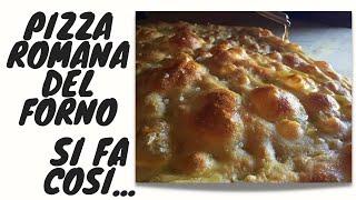 Pizza romana bianca e rossa bassa scrocchiarella