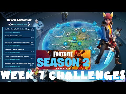 *NEW* ALL Week 7 Challenges Guide - Season 2 Chapter 2 Fortnite Battle Royale (Skye's Adventure Pt1)