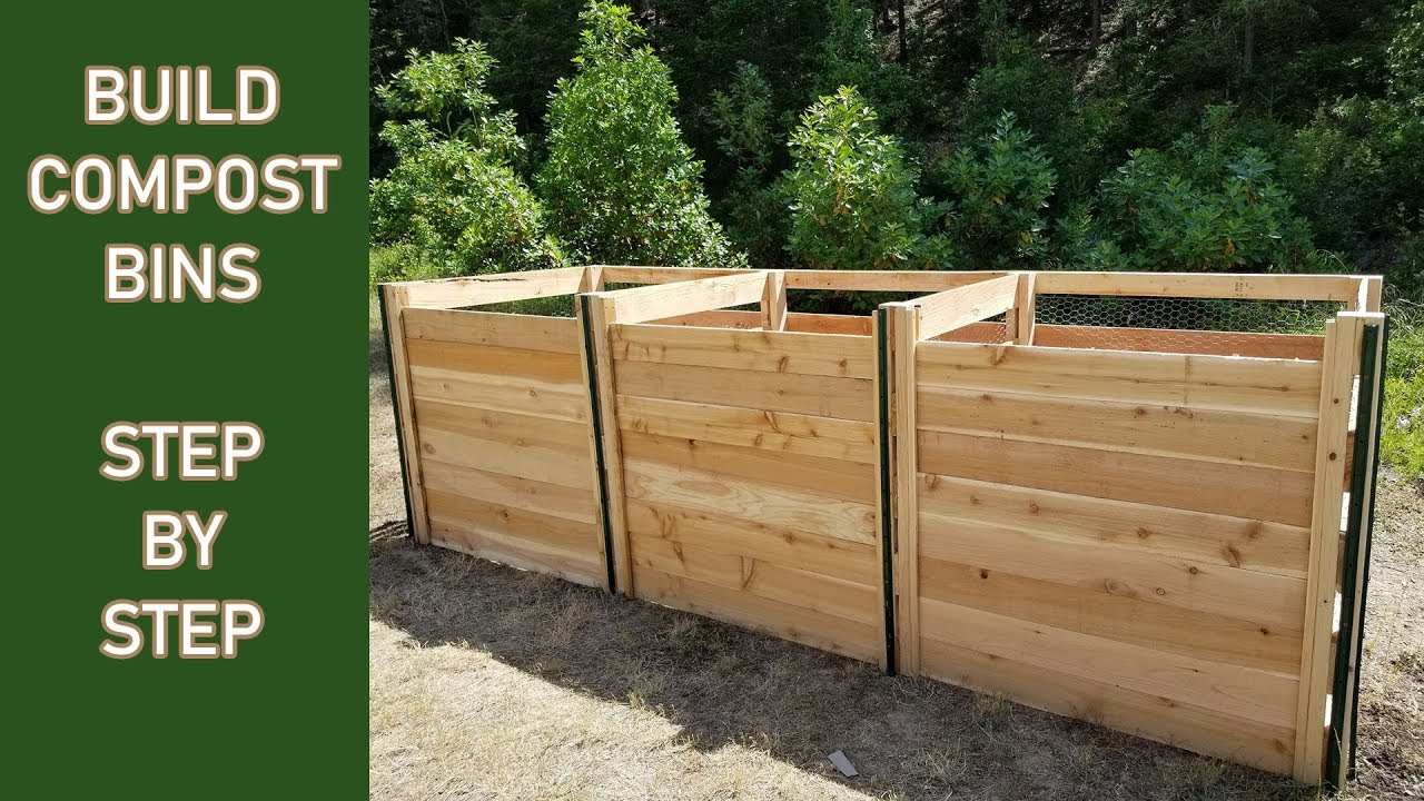 Build A 3 Bay Compost Bin Step By