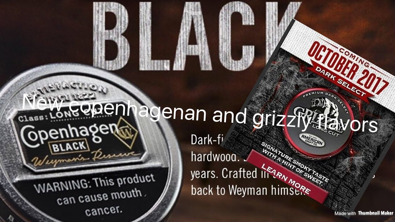 NEW Copenhagen and Grizzly Flavors!!