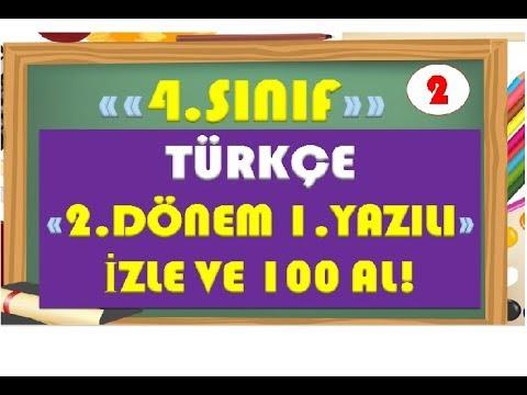 4.Sınıf Türkçe 2.Dönem 1.Yazılı Hazırlık 2-Yardımcı Öğretmen