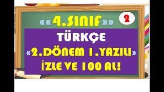 4.Sınıf Türkçe 2.Dönem 1.Yazılı Hazırlık 2-Yardımcı Öğretmen Video
