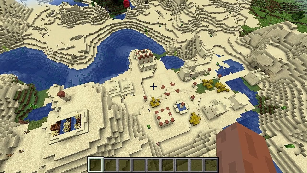 Minecraft 12.124 Seed 1247: Double village and desert temple