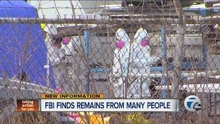 FBI finds remains from many people