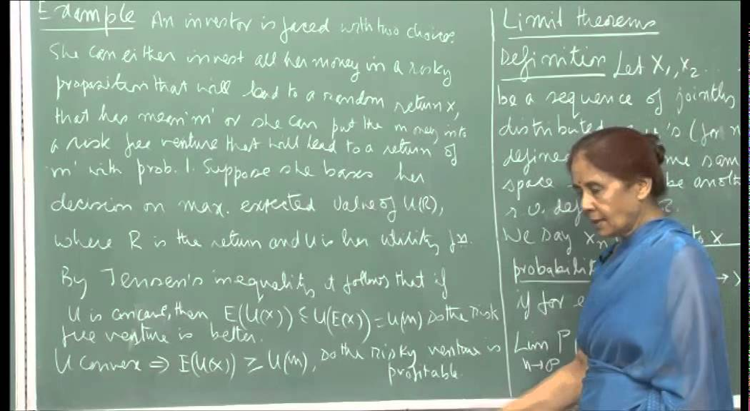 Mod-01 Lec-20 Convergence and limit theorems