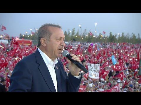Başkomutan Recep Tayyip ERDOĞAN ın Yenikapı Demokrasi Ve şehitler mitingi Konuşması LOGOSUZ
