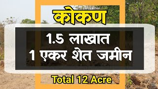 (Property Total Booked)1 एकर शेत जमीन फक्त रु 1.50 लाखात | 60% Table Land | Best Plot For Plantation