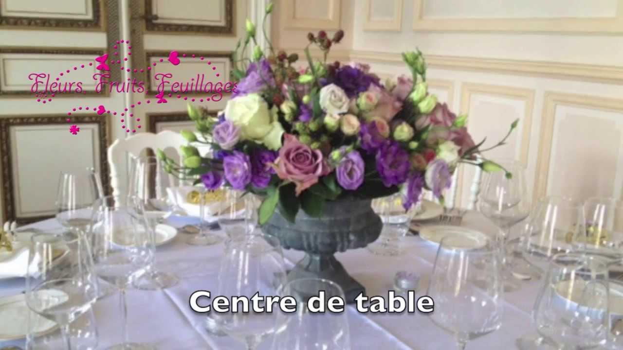 d coration florale mariage youtube. Black Bedroom Furniture Sets. Home Design Ideas