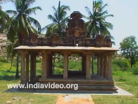 Open halls at Hampi in Bellari district, Karnataka