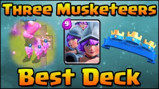 Clash Royale - Fastest 3 Crown Attack Strategy | Best Three Musketeers Deck for Arena 7 and Arena 8
