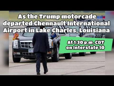 Trump Motorcade Crash Accident Louisiana