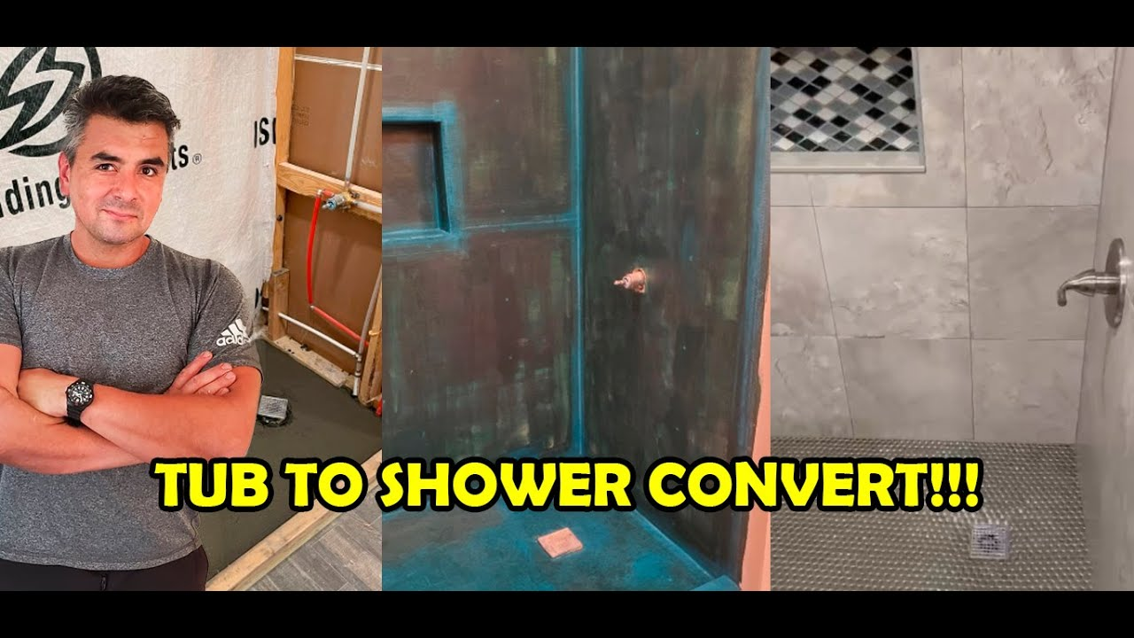 Consider this before turning your tub into a shower!!!🛁▶🚿