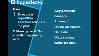 Preterito vs. Imperfecto