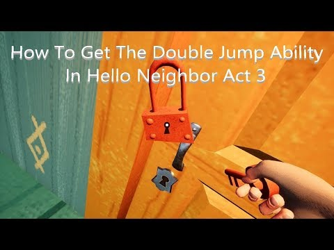How To Get The Double Jump/Beat the Red Key Door In Hello
