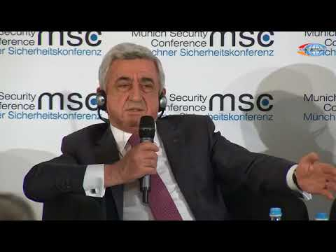 Armenian president schools Azerbaijani delegate on history at Munich Security Conference