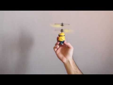 Flying MINION Helicopter With Hand Sensor