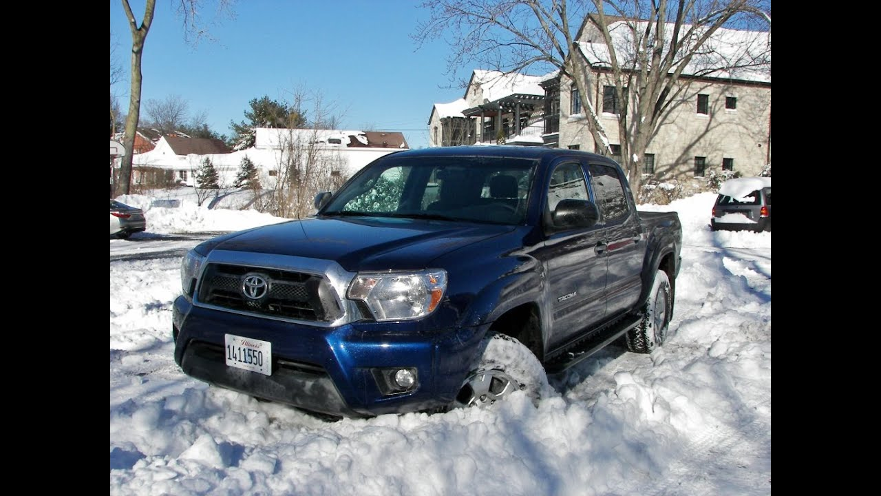 Tacoma Double Cab >> 2015 Toyota Tacoma 4x4 TRD snow drifting video - DHS - YouTube