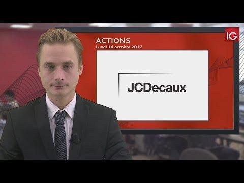Bourse - Action JCDecaux,Goldman Sachs en soutien - IG 16.10.2017