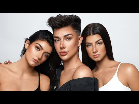 James Charles Uses Makeup to Turn Us into Triplets! featuring Charli D'Amelio  |  Dixie D'Amelio