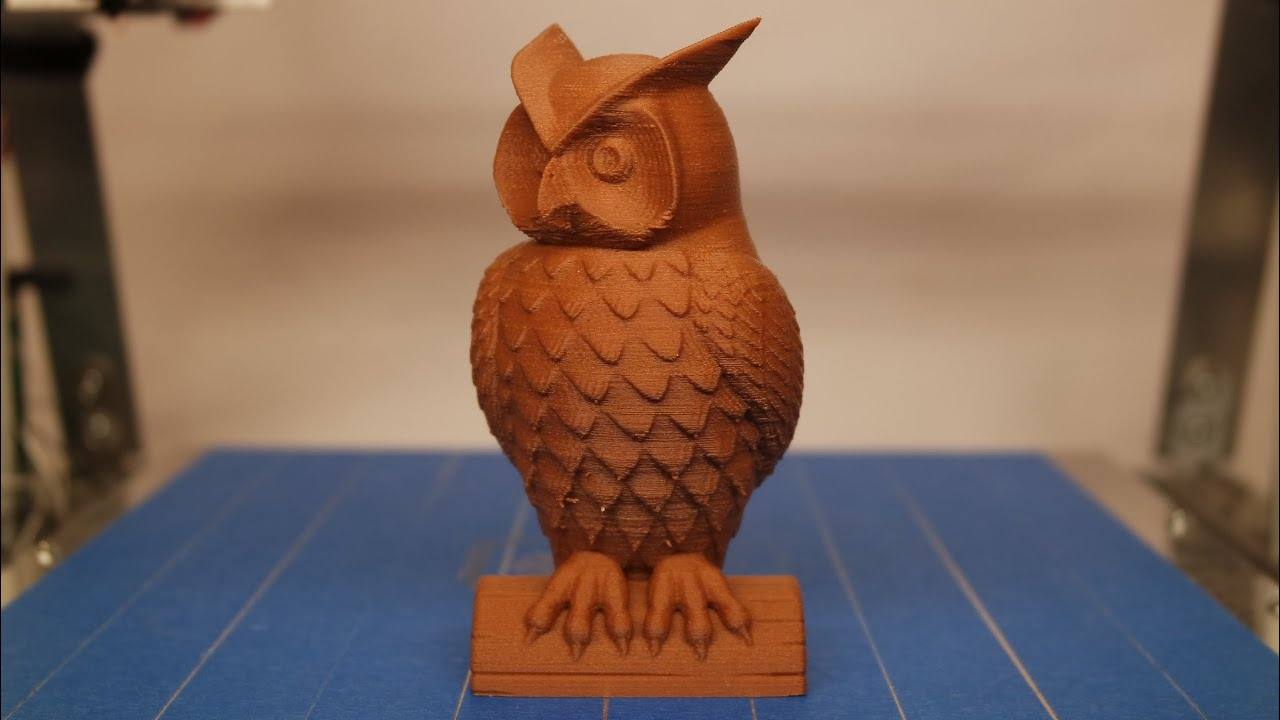 3d Printing Timelapse Owl Statue Youtube