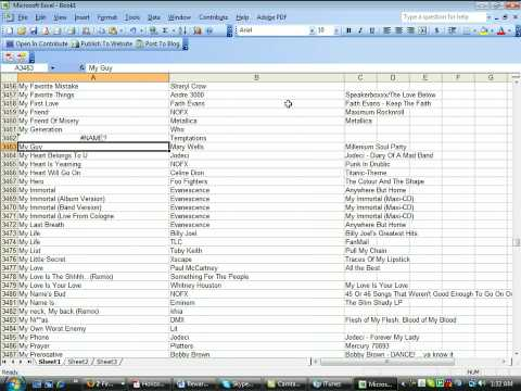Make A Excel List Of Your Itunes Libary