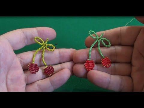Вишня из бисера в технике параллельного плетения