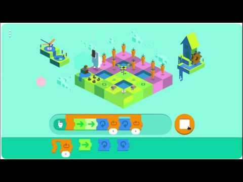 Google Mini game: Celebrating 50 years of kids code (Google Doodle Game)