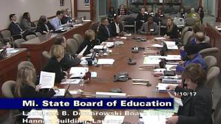 Michigan State Board of Education Meeting for...