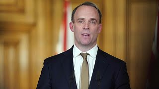 video: Nervy Dominic Raab took the coronavirus news conference... and it was finger-lickin' bad