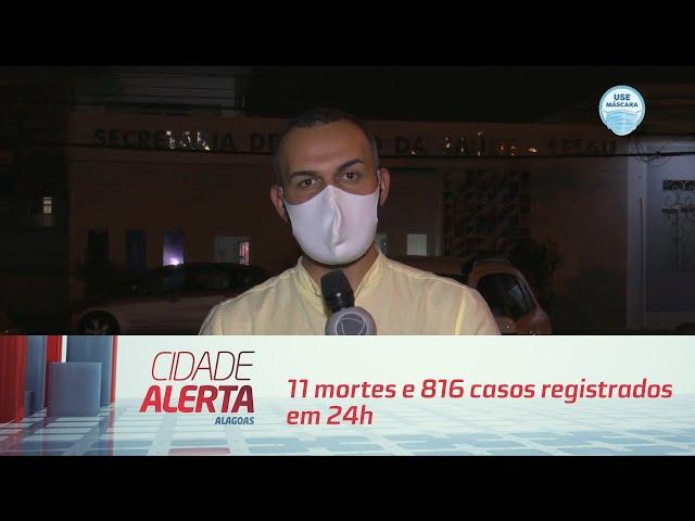 Coronavírus em AL: 11 mortes e 816 casos registrados em 24h