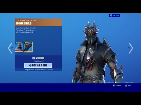 SPIDER KNIGHT SKIN *NEW* FORTNITE ITEM SHOP UPDATE LIVE May 24 2020 (fortnite Item Shop Today)