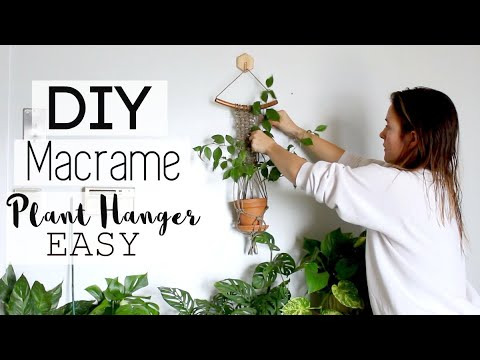 DIY Macrame Hanging Planter Tutorial | Beginner Hanging Planter HOWTO