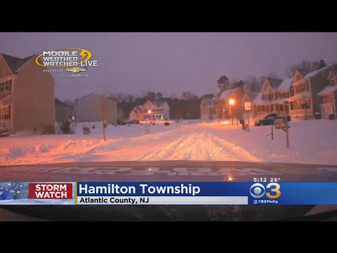 CBS3's Mobile Weather Watcher With A Look At Snowy Conditions In Atlantic County