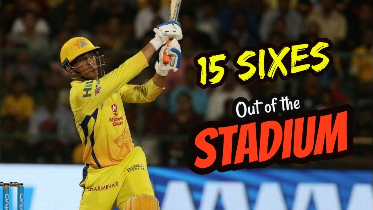 MS Dhoni's sixes that went out of the Stadium! TOP 15