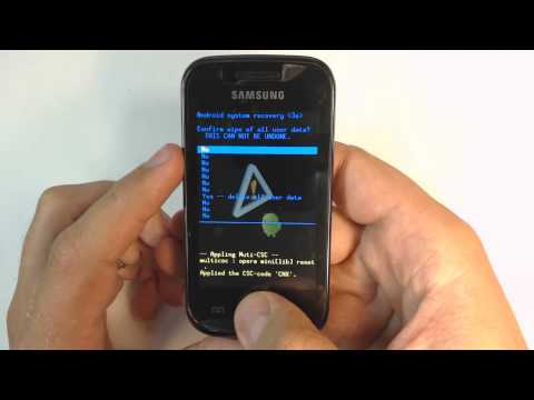 Samsung Galaxy Gio S5660 - How to put phone in download mode
