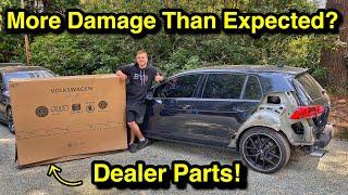 Rebuilding A WRECKED Aฑd MODDED 2016 Volkswagen Golf R From COPART Part 3!