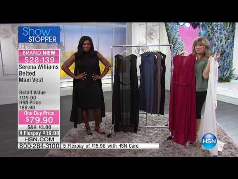 HSN | SERENA WILLIAMS Signature Statement Fashions 03.01.2017 - 09 PM