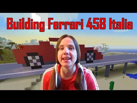 Minecraft   Building a real Ferrari 458 ITALIA   [1]