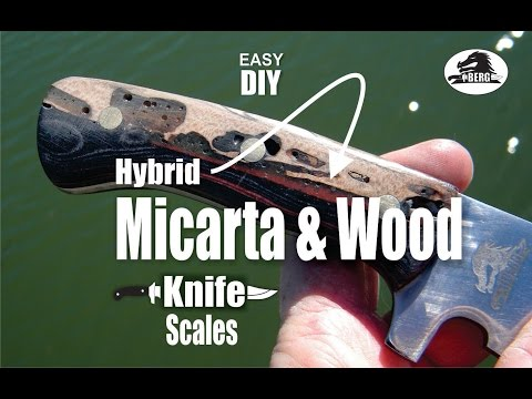 How to make Hybrid Micarta and Wood Knife Handles or scales
