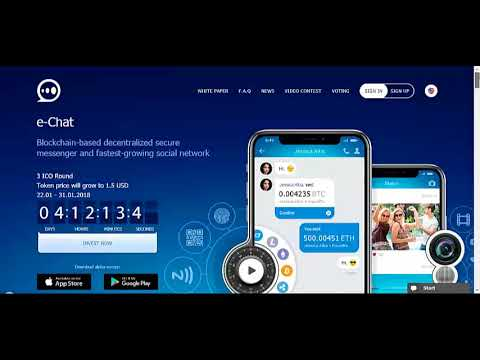 e chat ICO review ( Decentralized chat platform)