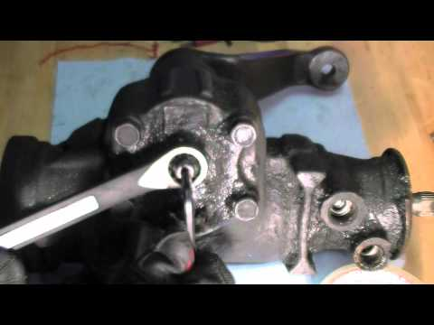 How To Adjust Steering Gear Box Play Youtube