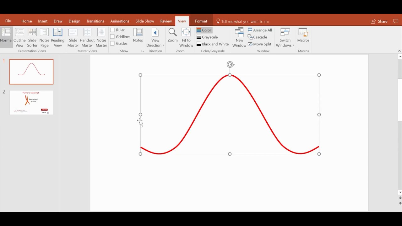 the quickest way to draw a sine wave, bell curve, or any curve, Powerpoint templates