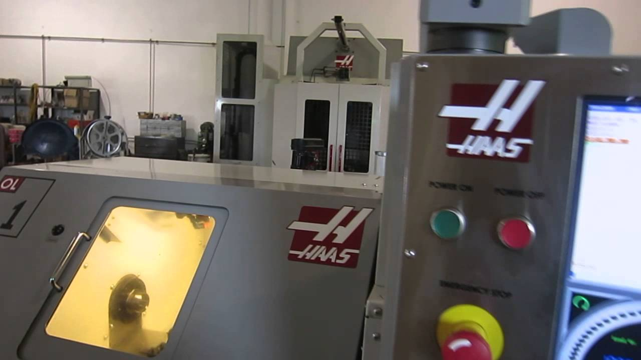 Lathe For Sale >> Haas OL-1 CNC Office Lathe, New 2008 For sale at www.machinesused.com - YouTube